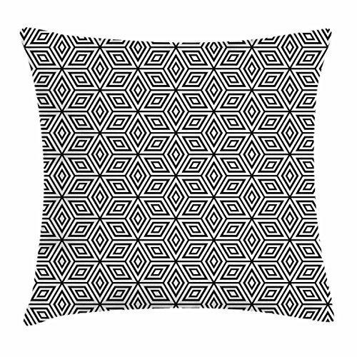 Cap shorts Funda de cojín geométrica, composición Hexagonal ...