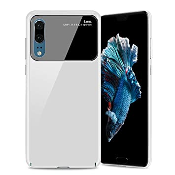 ATUTEN Carcasa Huawei P20, Funda del Teléfono Resistente a Arañazos para Huawei P20 Pro (Blanco)