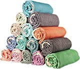 istanbulx SET of 6 - New Season Brightest Diamond Weave Turkish Cotton Bath Beach Hammam Towel Peshtemal Blanket