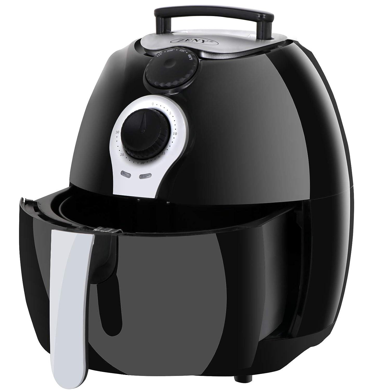 SUPER DEAL Deep Air Fryer 3.7 Quart Comes With Recipes CookBook, Timer, Temperature Control , Detachable Basket