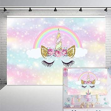 Amazon.com: COMOPHOTO - Fondo de vinilo de unicornio para ...