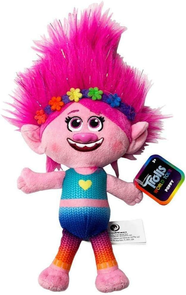 "DreamWorks Trolls World Tour Poppy Rainbow 8/"" Plush Toy"