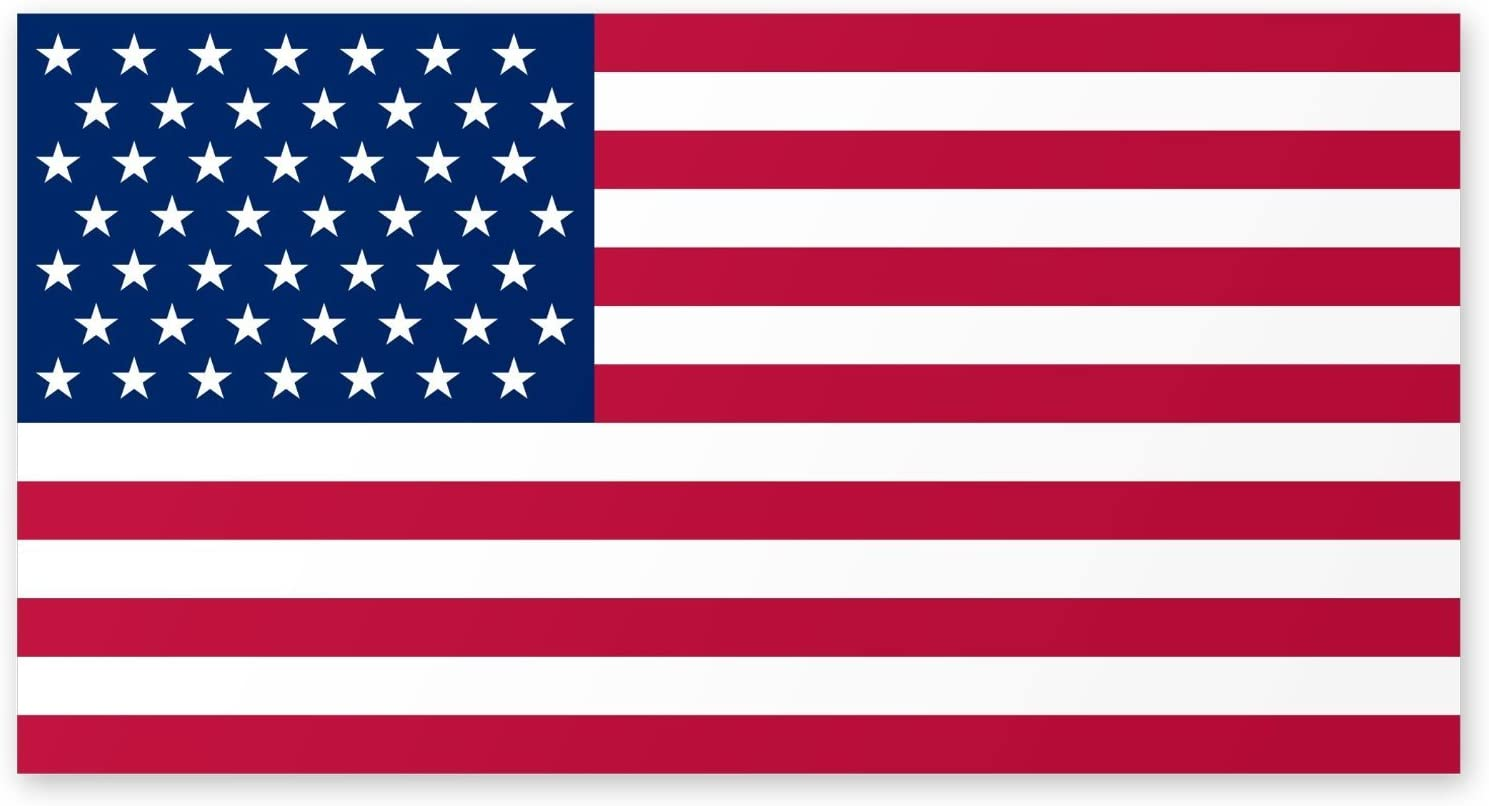 Flexible Magnets USA Magnet American Flag Bumper Sticker - 4x6 - Weather and UV Resistant from