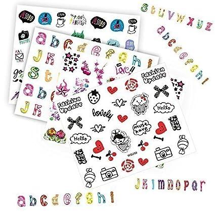 Amazon Tempea 6 Sheets Hello Kitty Emoji Nail Art Decals