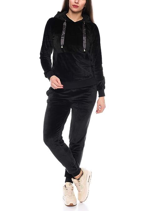 Crazy Age Damen Anzug Freizeit Sport Alltag   Samt Nicki Velvet   Kuschelig Sportlich Elegant   XS - XL