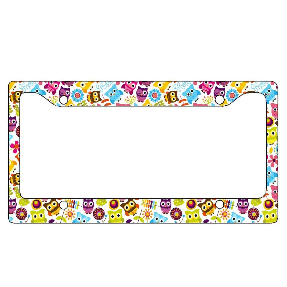 Cute Owls License Plate Frame for your Car Flat Frame Unique