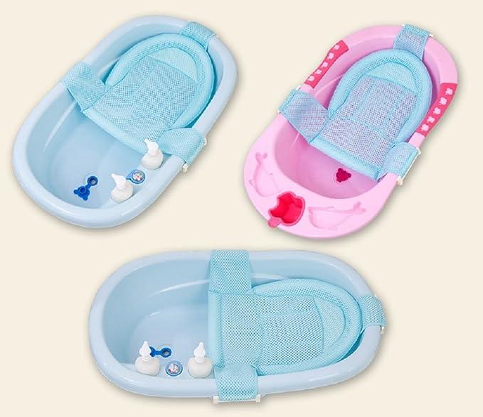 Itian Verstellbar Baby Badesitz Sch/ätzchen Badewanne Sicherheitsbadesitz Unterst/ützung Blau