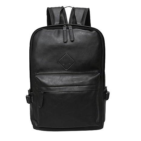 3436c422dcfe Amazon.com: UKXMNC Backpack Male Leather Backpack Laptop Satchel ...