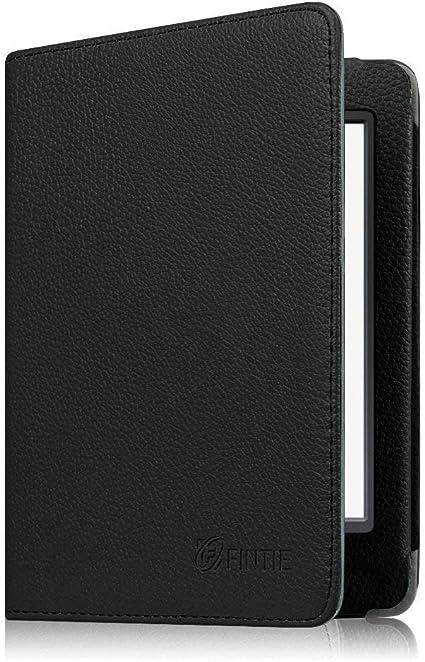 Fintie Folio Funda para Kindle Paperwhite - Estilo del Libro Carcasa de Cuero Sintético con Función de Auto-Reposo/Activación (No se Adapta a 10.ª generación 2018), Negro: Amazon.es