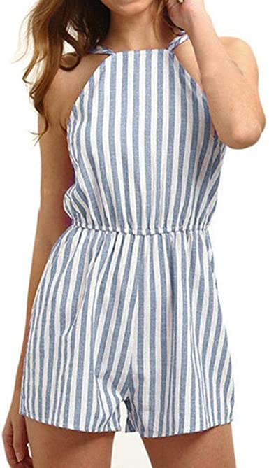 Womens 2 Piece Outfits Halter Sleeveless Bandage Crop Cami Top with Shorts Summer Jumpsuits Clearance