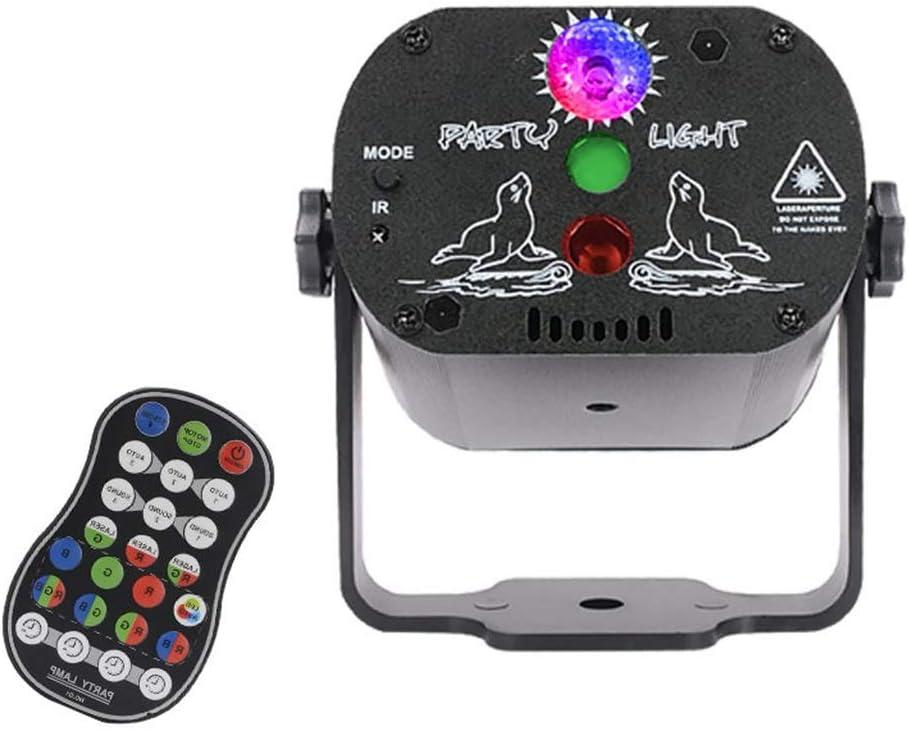 LED 4 Channel 3-Eye Pattern Stage Light 9W RG Activation Scene Red Green Full Color Scanning Fan for Family Bar Ktv 092 Disco Lights