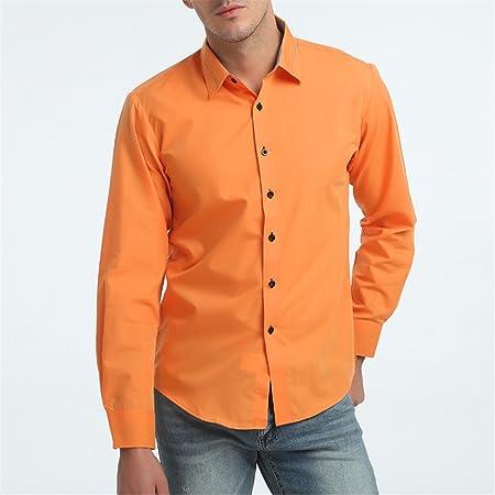 GK Hombre Camisa Moda Casual Camisa de Vestir Slim Fit La ...