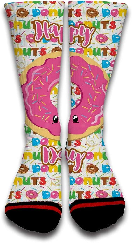 Doughnut Cool Funny Custom Creative Sport 3D Printed Crew Socks