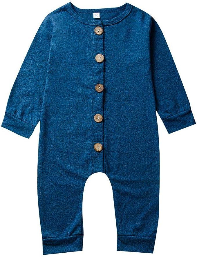 Divertido Pijama, K-Youth Pelele Bebe Niño Invierno Botón Bodies ...