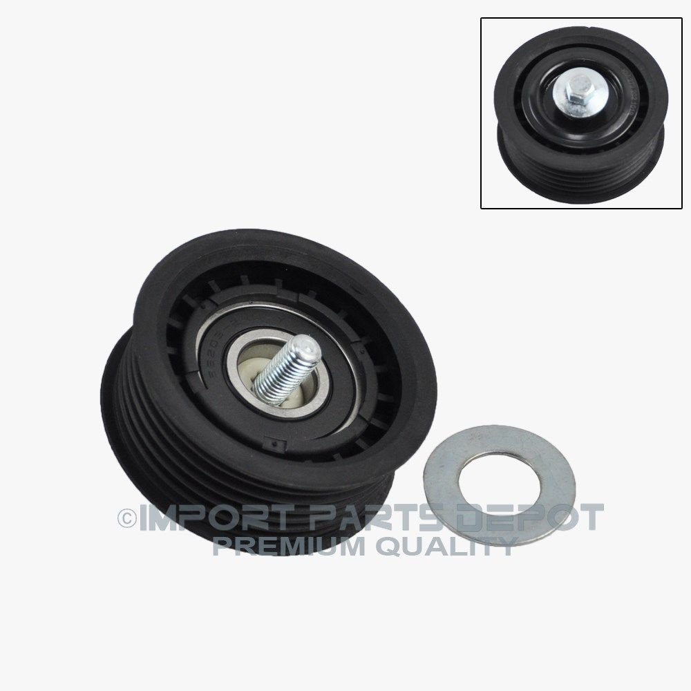 Drive Belt Idler Pulley (Grooved) for Mercedes-Benz C230 C280 GL550 C300 R350 C350 CLS550 CL550 CLK550 CLK350 G550 ML550 GL450 SL550 SLK280 SLK300 Premium 2722021019 New Koolman Products