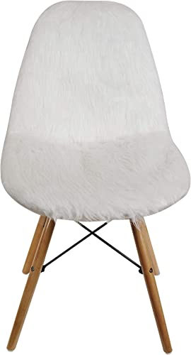 Cute Fluffy White Armless Plush Faux Fur Side Living Room Chairs - the best living room chair for the money