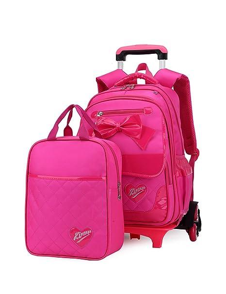 Rolling Backpack Blue Phaedra FU Trolley School Bags Backpack School Kids Rolling Backpack With 6 Wheels Climbing Stairs