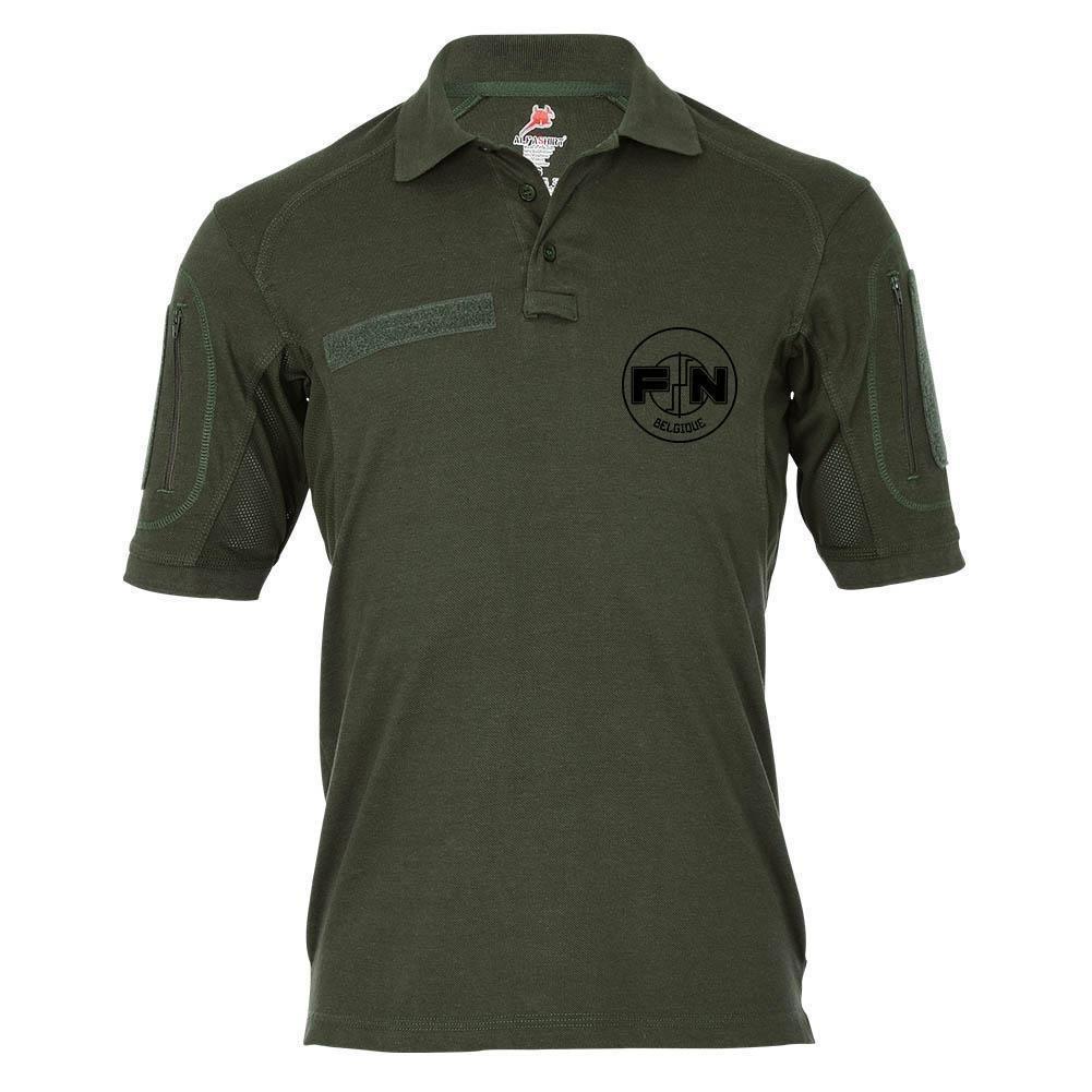 Tactical Poloshirt Alfa - FN Belgique Fabrique Nationale Herstal Belgien Waffenfabrik d'Armes de Guerre Logo  19009