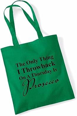 Funny Tote BagsThrowback ThursdayCanvas Shoulder Shopper Bag