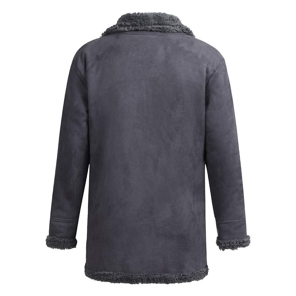 TUSANG Mens Winter Sheepskin Jacket Warm Wool Lined Mountain Faux Lamb Jackets Coat Outwear