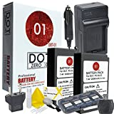 2x DOT-01 Brand 2000 mAh Replacement Olympus BLS-5 Batteries and Charger for Olympus PEN E-PL7, E-PL5, E-PL2, E-PM2, STYLUS 1, STYLUS 1S, OM-D E-M10 Digital Camera and Olympus BLS5 Accessory Bundle