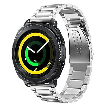 Vicara - Bracelet de remplacement en acier inoxydable pour montre de sport connectée Samsung SM-