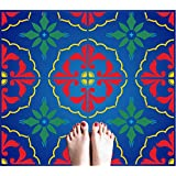 Stencils for Walls - Mexican Tile Stencil - 12 x 12 inch 4 Tile (L) - Reusable Talavera Moroccan Turkish Italian Tile Stencils for Painting - Use on Walls, Floors, Fabrics, Glass, Wood, and More…