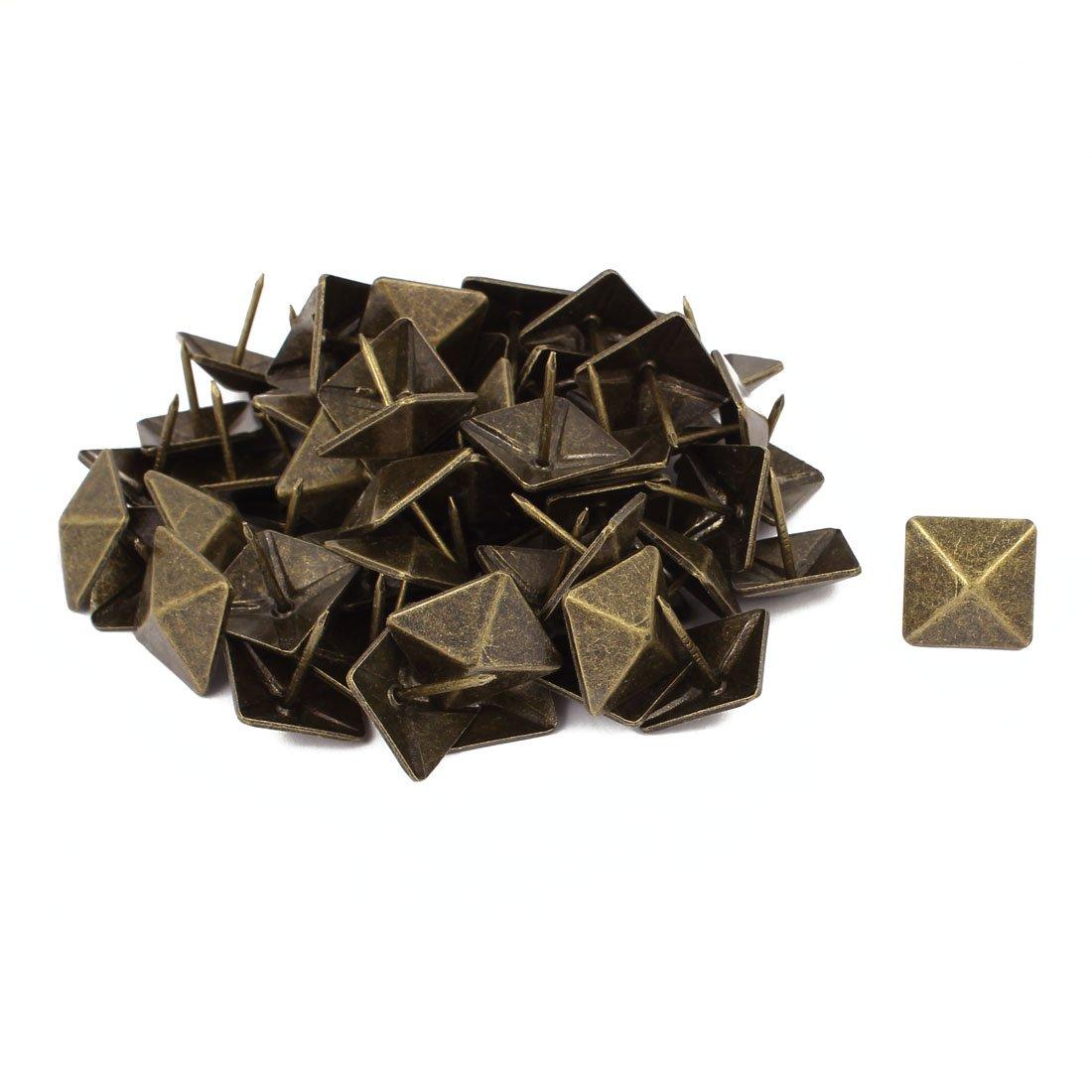 sourcingmap® 19mm de diám tapicería cuadrado Clavo Tachuela decorativa Semental Alfiler Chincheta 60pcs SYNCTEA026088