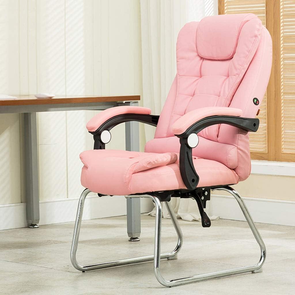 ChenB Chaise d\'ordinateur, chaise de chambre salon chaise d\'étude chaise Home chaise chaise de bureau chaise personnel chaise multifonctionnelle more comfort (Color : Pink) Pink