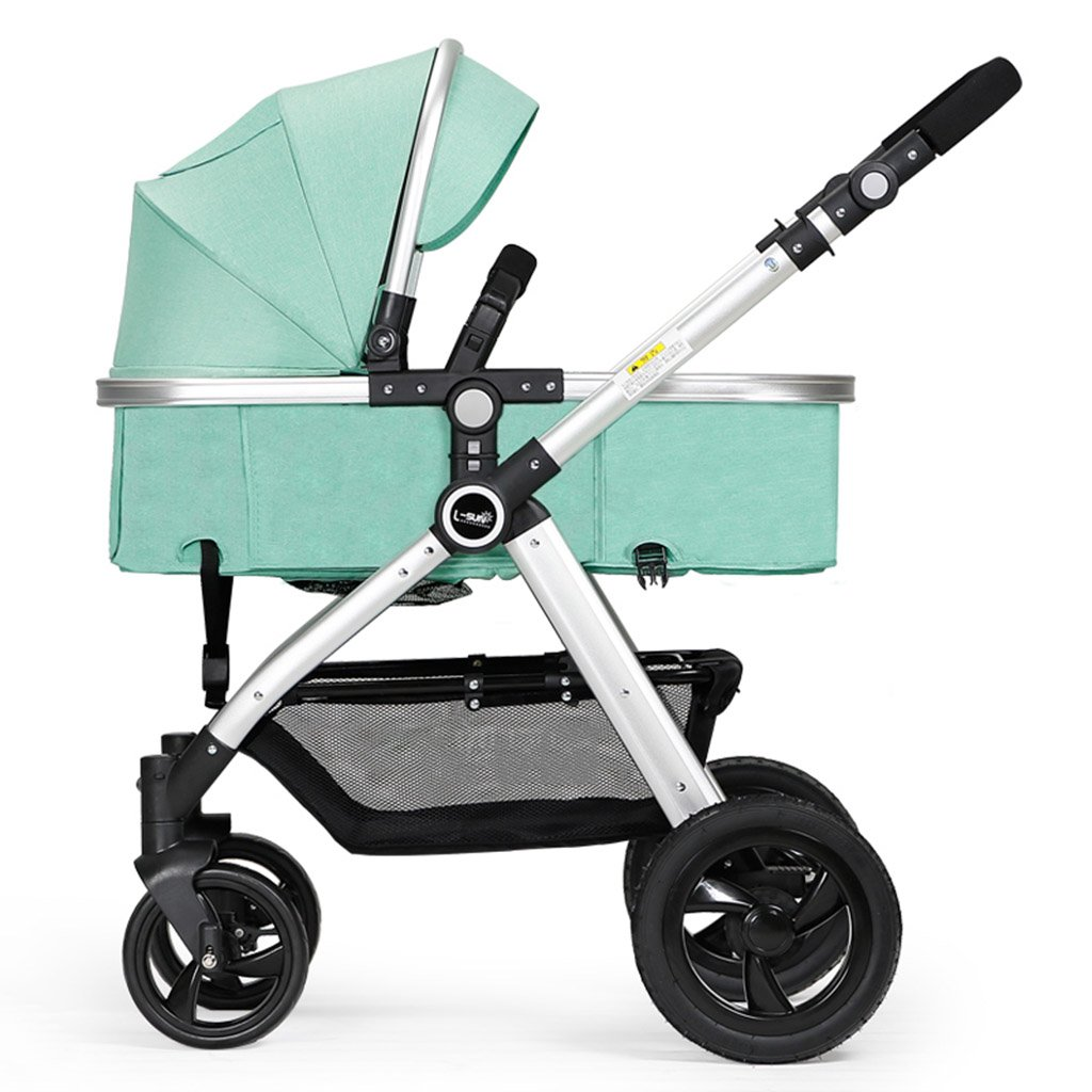 Sillas de paseo ERRU- Cochecito de bebé plegable/Puede sentarse de ...