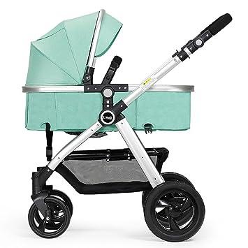 Sillas de paseo ERRU- Cochecito de bebé plegable/Puede sentarse de dos vías ligeramente