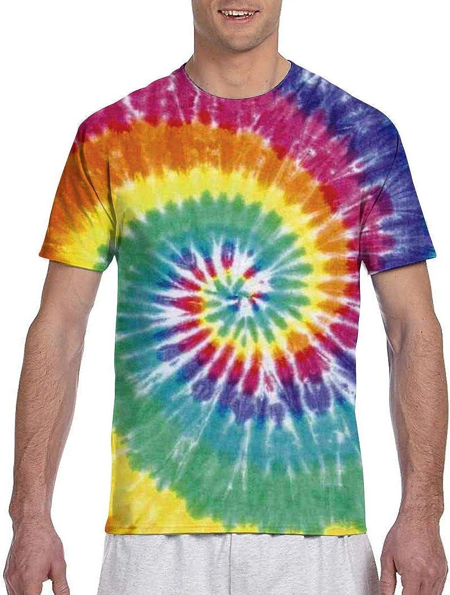 Camisetas de hombreCamisas de Manga Corta de Color Corbata Yed ...