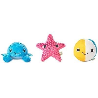 Hallmark Happy Go Luckys Toddler Toys, Small Stuffed Animals, Beach Bums, Set of 3: Beauty