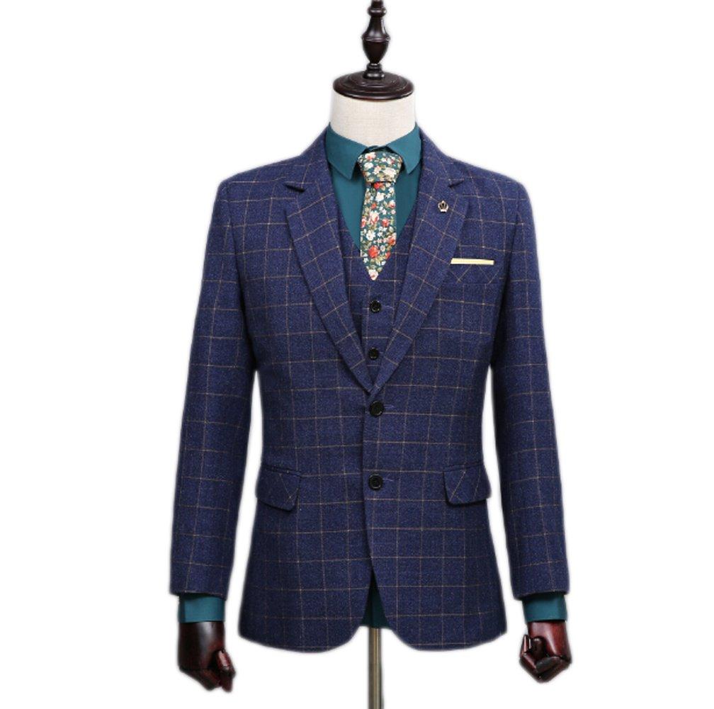 AK Beauty Men's Suit Slim Fit Man's Prom Suit (Jacket+Pants+Vest+Tie) XXXXXL