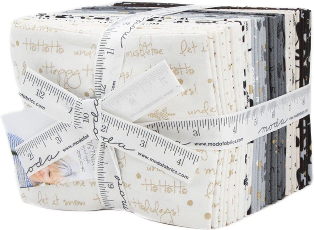 Moda White Christmas Metallic Fat Quarter Bundle by Zen Chic 1650ABM