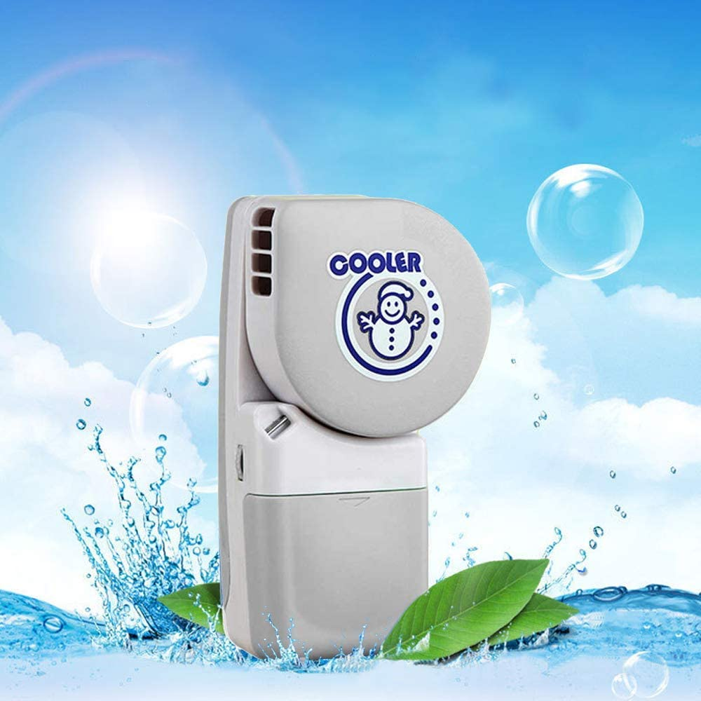 LOHOME Handy Cooler Small Fan, Mini-Air Conditioner Portable Speed Adjustable Fan Runs on Batteries or USB