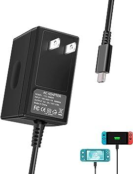 Cargador para Nintendo Switch y Nintendo Switch Lite 2019, adaptador de CA portátil con cable de