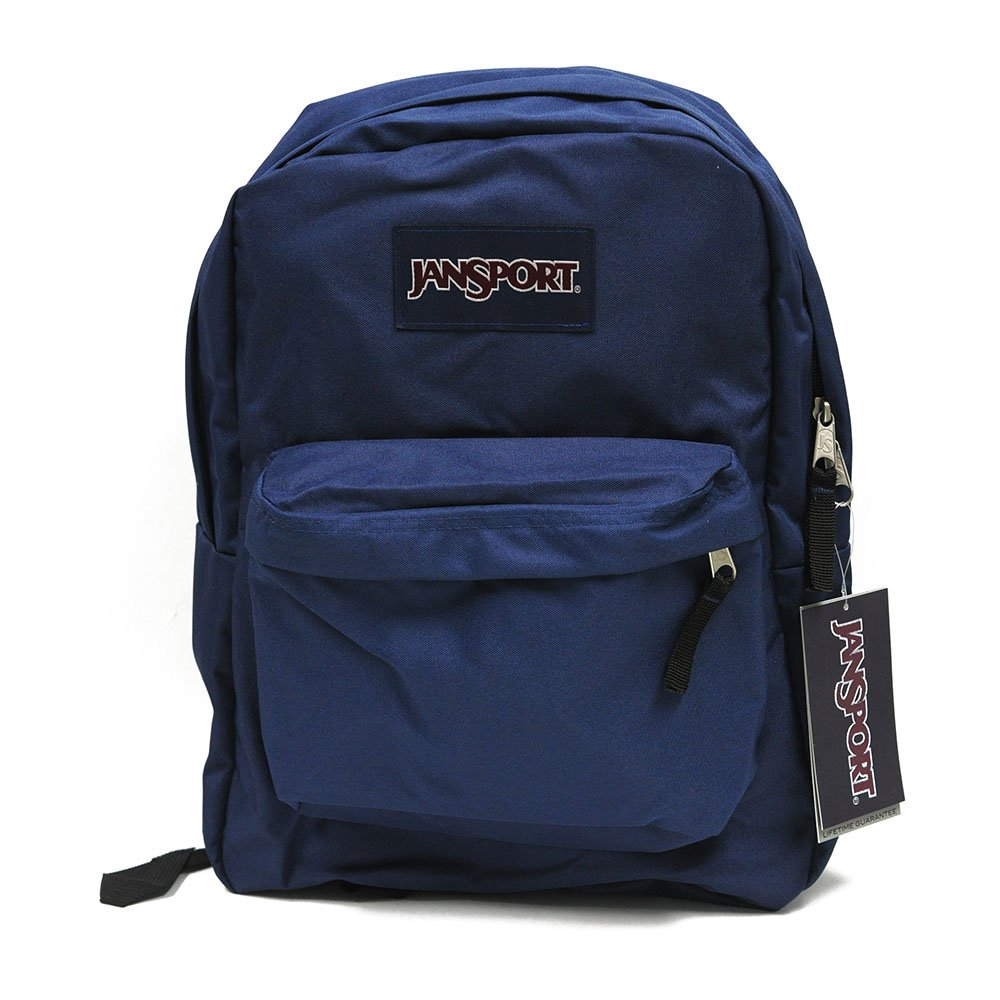 Amazon Jansport Backpack Superbreak Navy Blue For School Work