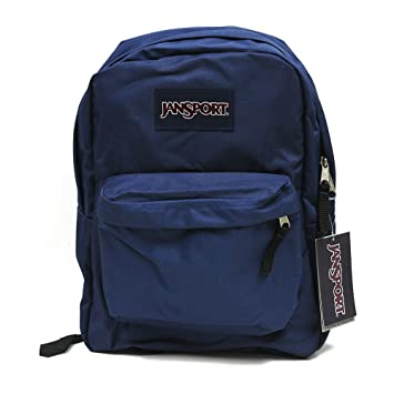 Amazon.com: Jansport Backpack Superbreak Navy Blue for School Work ...