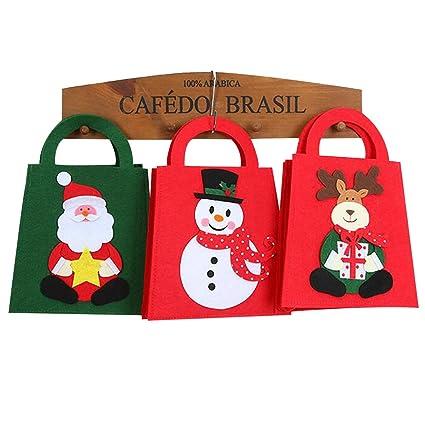 IFOYO Bags Bolsas colgantes de dibujos animados, pequeñas decoraciones de árbol de Navidad, bolsas de dulces