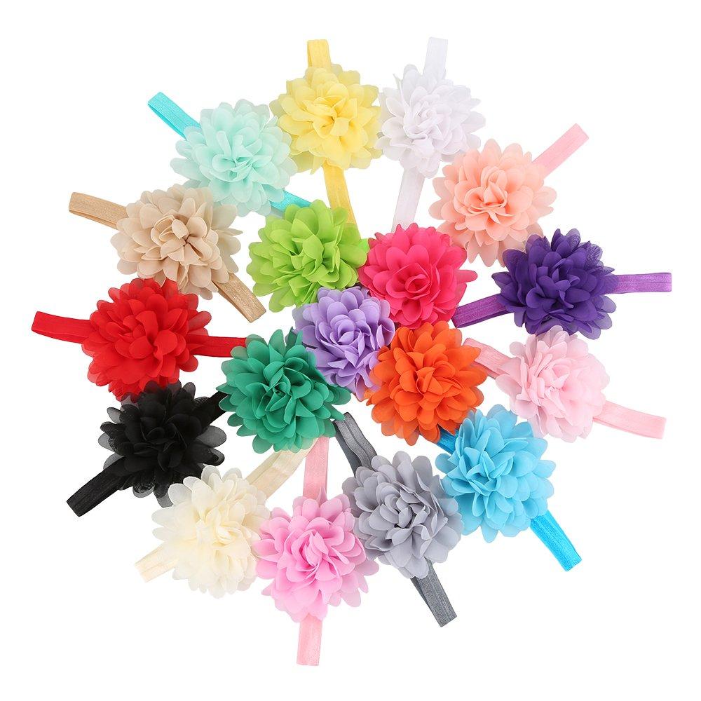 EagleUS Baby Girls Toddler Bow Headband Elastic Hair Bows Newborn Headwear EagleUS(CA Seller)