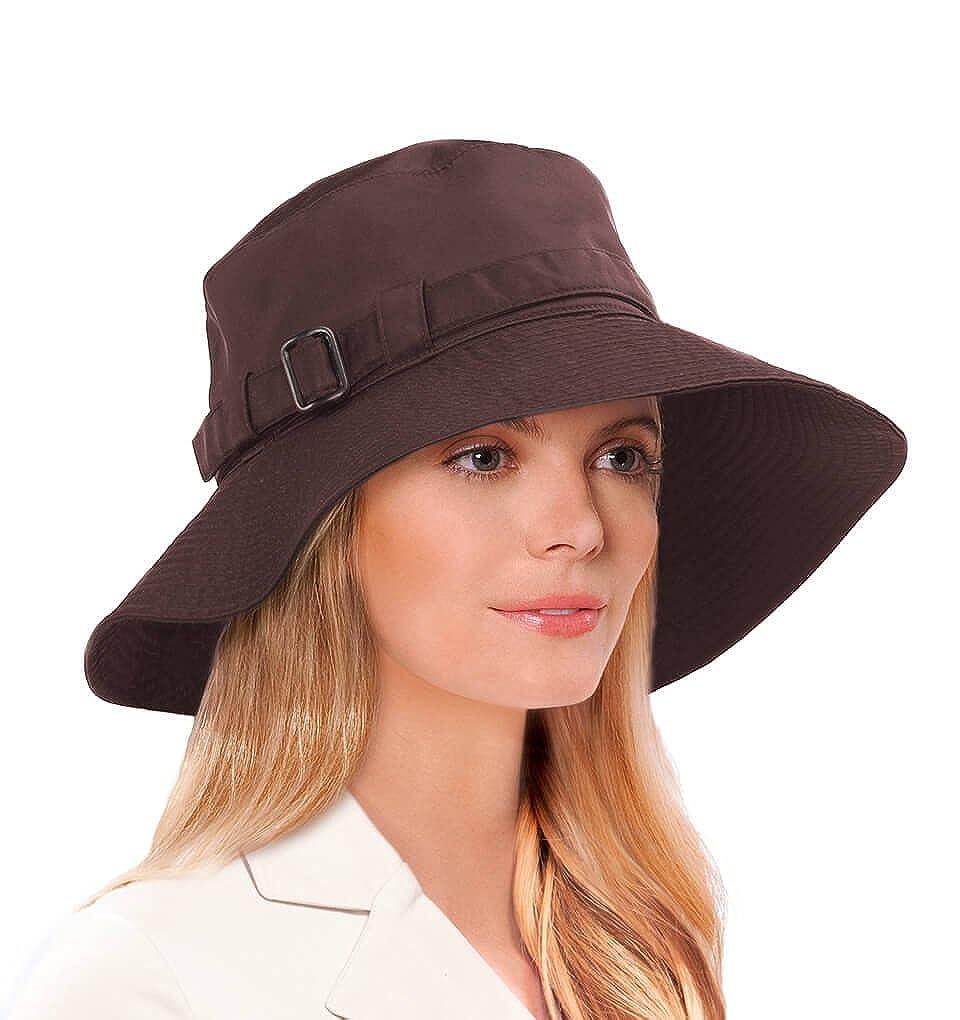 Eric Javits Luxury Fashion Designer Women's Headwear Hat - Kaya 13740-BROWN