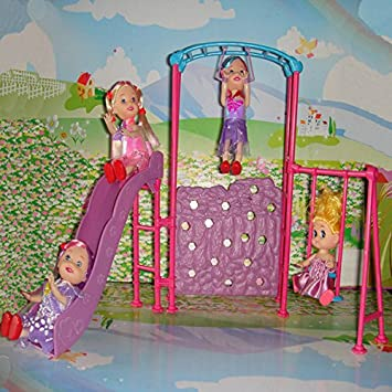 Casa de Muñecas en Minitura Accesorio Decorativo Conjunto de Feria para Barbie Kelly