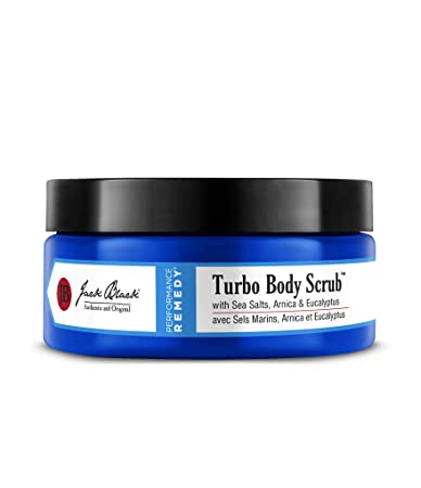 Jack Black – Turbo Body Scrub, 10 fl oz – With Sea Salts, Arnica and Eucalyptus