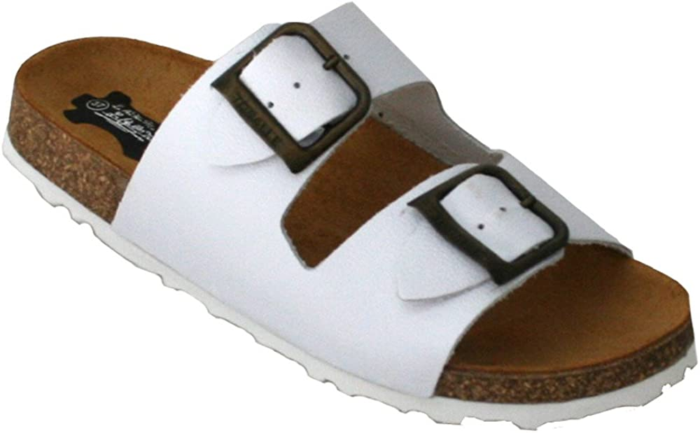15023 - Sandalias Bio Sprinter con Dos Hebillas Blanco