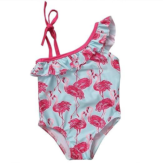 39994a8059dc8 Baby Girls One Piece Flamingo Swimwear Swimming Costume Swimsuit Bikini Age  1-6Y (2