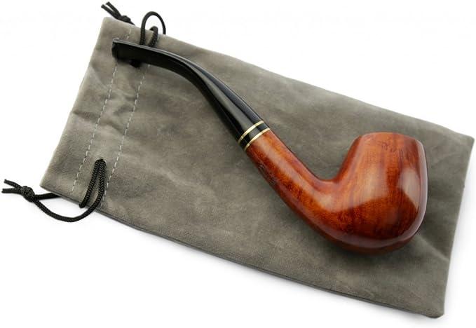 /à la Main Zipacn/á Donovan pour Les filtres 9mm A.P avec sifflet de Verre Jeu de Tabac /à Pipe en Bois de ronce la Couleur Peut Varier