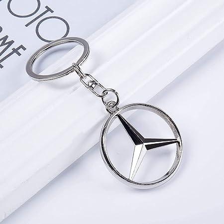 3d Metall Chrom Mercedes Auto Schlüsselanhänger Auto Logo Schlüsselanhänger Auto