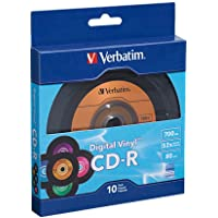 Verbatim 700MB 52X 80 Minute Digital Vinyl CD-R, 10-Disc 97935