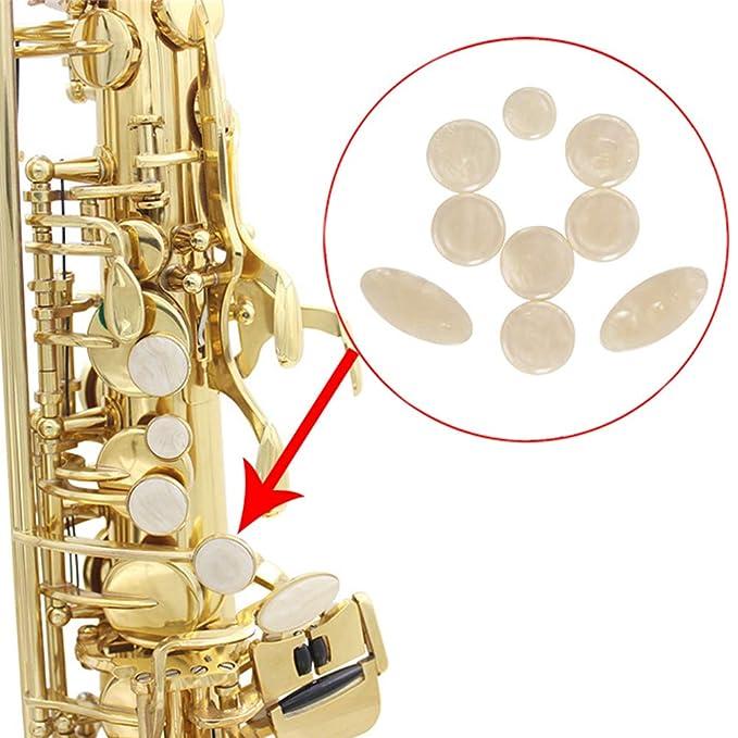 9Pcs//Set Exquisite Sax Key Button Inlays for Alto Tenor Soprano Saxophone Accessory Vbest life Sax Finger Buttons